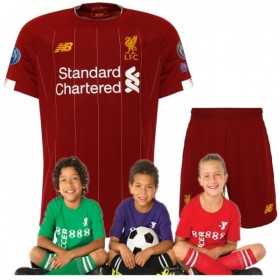 Kid's Liverpool LFC European Home Shirt 19/20 (Customizable)