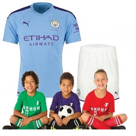 Kid's Manchester City Home Suit 19/20(Customizable)