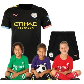 Kid's Manchester City Away Suit 19/20 (Customizable)