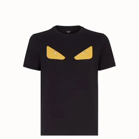 Fendi Black cotton t-shirt  FY072294TF0QA1