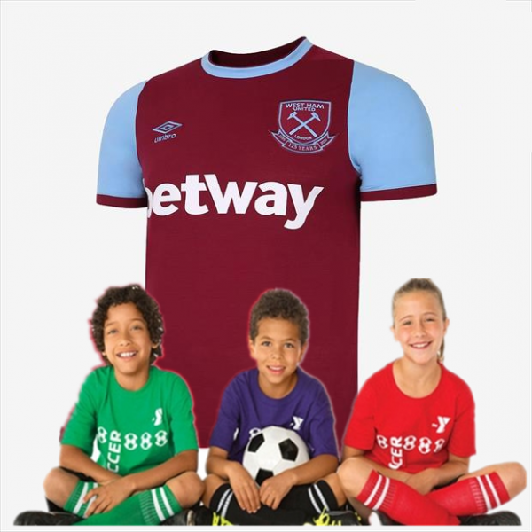 kid's West Ham United Home Jersey 20/21 (Customizable)