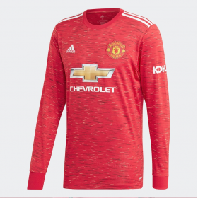Manchester United Home Long sleeve Jersey 20/21 (Customizable)