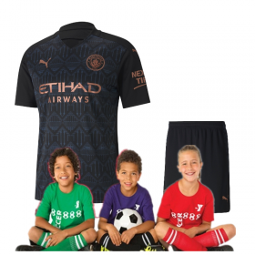 Kid's Manchester City Away Suit 20/21(Customizable)