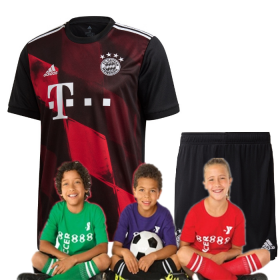 Kid's Bayern Munich Third Suit 20-21 (Customizable)