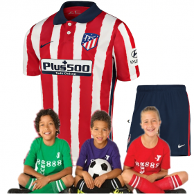 Kid's  Atletico Madrid Home Suit 20/21 (Customizable)