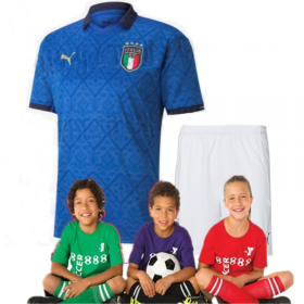 Kid's 2020 Euro Cup Italy  home Suit (Customizable)