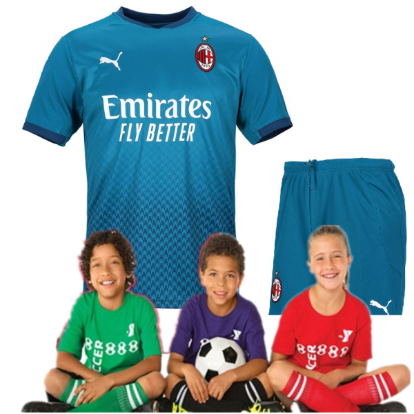 Kid's AC Milan Third Suit 20/21 (Customizable)