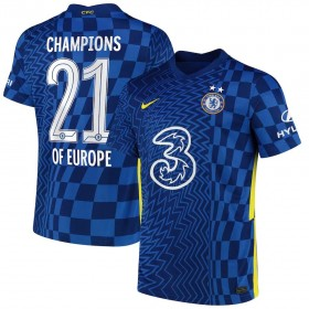 Chelsea Cup Home Stadium Shirt 2021-22 with Champions of Europe 21 printing