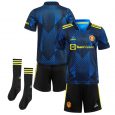Kid  Manchester United Third Suit 21/22(Customizable)