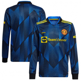 Manchester United Third Long sleeve Jersey 21/22 (Customizable)