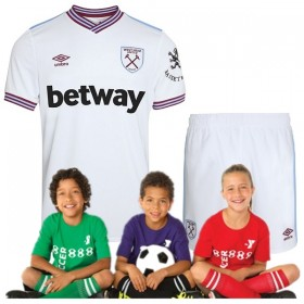 kid's West Ham United Away Jersey 19/20 (Customizable)