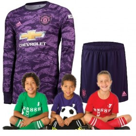 Kid's Manchester United Home suit 19/20 goalkeeper (Customizable)