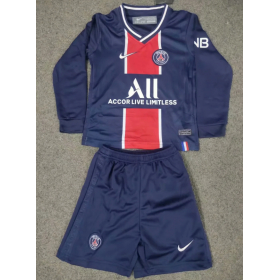 Kid's Paris Saint-Germain Home Long sleeve Suit 20/21 (Customizable)