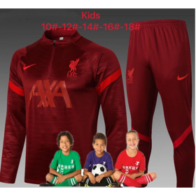 kid's 21/22 Liverpool Training Suits Red